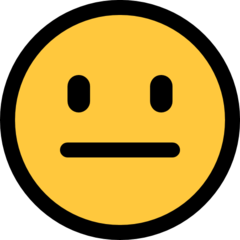 Neutral Face microsoft emoji