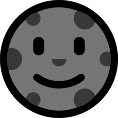 New Moon With Face microsoft emoji