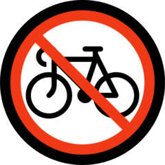 No Bicycles microsoft emoji
