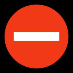 No Entry microsoft emoji