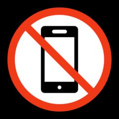 No Mobile Phones microsoft emoji