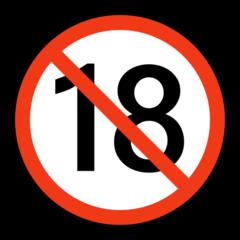 No One Under Eighteen Symbol microsoft emoji