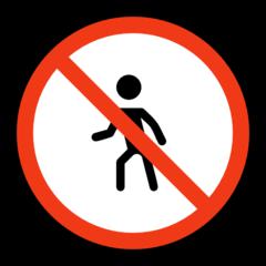 No Pedestrians microsoft emoji