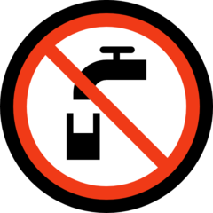 Non-potable Water Symbol microsoft emoji