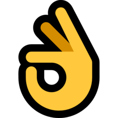 Ok Hand Sign microsoft emoji