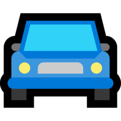 Oncoming Automobile microsoft emoji