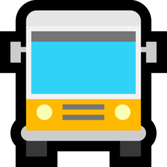 Oncoming Bus microsoft emoji