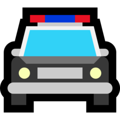 Oncoming Police Car microsoft emoji