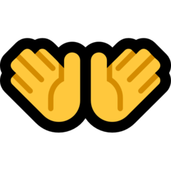 Open Hands Sign microsoft emoji