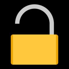 Open Lock microsoft emoji