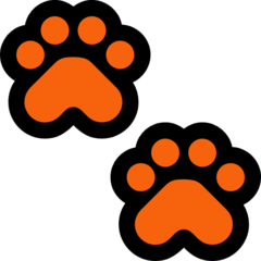 Paw Prints microsoft emoji