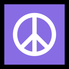 Peace Symbol microsoft emoji