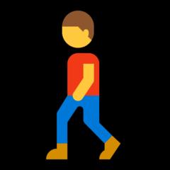 Pedestrian microsoft emoji