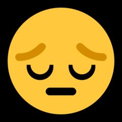Pensive Face microsoft emoji