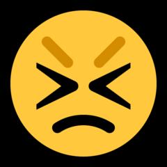 Persevering Face microsoft emoji