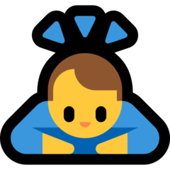 Person Bowing Deeply microsoft emoji