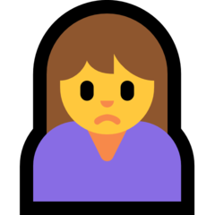 Person Frowning microsoft emoji