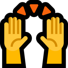 Person Raising Both Hands In Celebration microsoft emoji