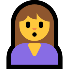 Person With Pouting Face microsoft emoji