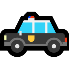 Police Car microsoft emoji