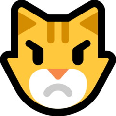 Pouting Cat Face microsoft emoji
