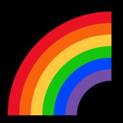 Rainbow microsoft emoji