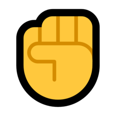 Raised Fist microsoft emoji