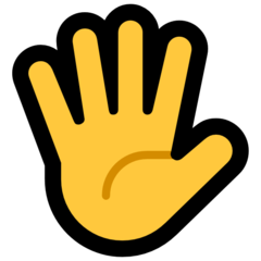 Raised Hand With Fingers Splayed microsoft emoji