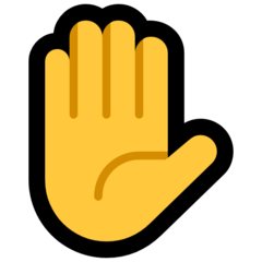 Raised Hand microsoft emoji