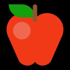 Red Apple microsoft emoji