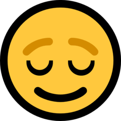 Relieved Face microsoft emoji