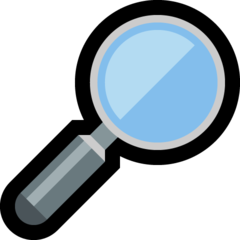 Right-pointing Magnifying Glass microsoft emoji