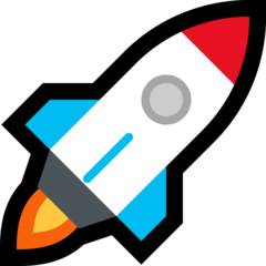 Rocket microsoft emoji