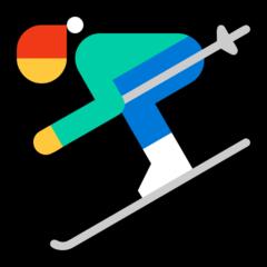Skier microsoft emoji