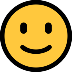 Slightly Smiling Face microsoft emoji