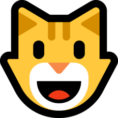 Smiling Cat Face With Open Mouth microsoft emoji