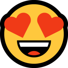 Smiling Face With Heart-shaped Eyes microsoft emoji