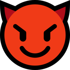 Smiling Face With Horns microsoft emoji