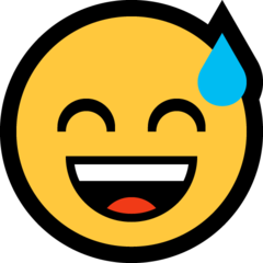 Smiling Face With Open Mouth And Cold Sweat microsoft emoji