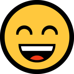 Smiling Face With Open Mouth And Smiling Eyes microsoft emoji