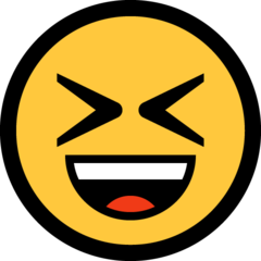 Smiling Face With Open Mouth And Tightly-closed Eyes microsoft emoji