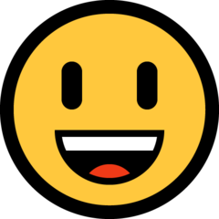 Smiling Face With Open Mouth microsoft emoji