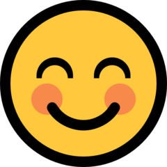 Smiling Face With Smiling Eyes microsoft emoji