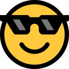 Smiling Face With Sunglasses microsoft emoji
