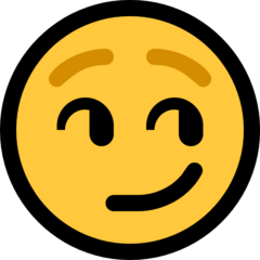 Smirking Face microsoft emoji