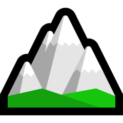 Snow Capped Mountain microsoft emoji