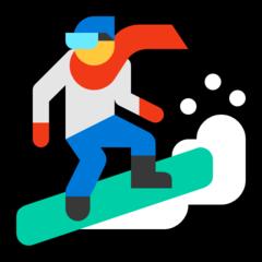 Snowboarder microsoft emoji