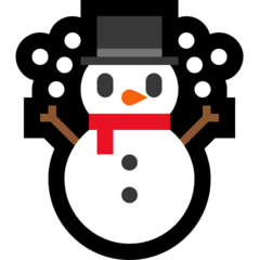 Snowman microsoft emoji