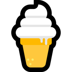 Soft Ice Cream microsoft emoji