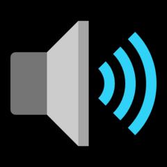 Speaker With Three Sound Waves microsoft emoji